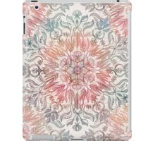 Autumn Spice Mandala in Coral, Cream and Rose iPad Case/Skin
