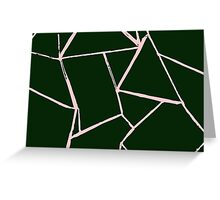 Web Green and Pink Card Greeting Card