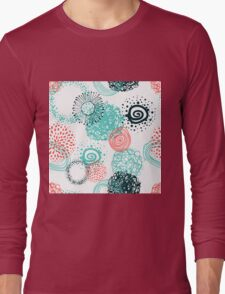 circles abstract seamless pattern  Long Sleeve T-Shirt