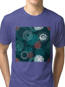 circles abstract seamless pattern  Tri-blend T-Shirt