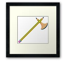 Pencil Battleaxe Framed Print
