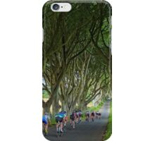 Cycling the Dark Hedges iPhone Case/Skin