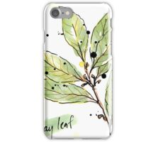 Culinary Herbs - Bay Leaf iPhone Case/Skin