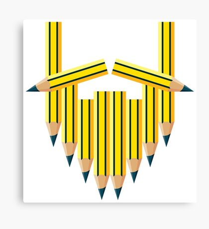 Pencil Beard Canvas Print