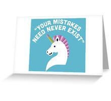 Character Building - Erasercorn Greeting Card