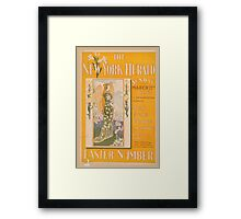 Artist Posters The New York Herald Sunday March 22nd 1896 A newspaper marvel Easter number 0862 Framed Print