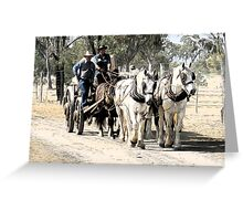 Carting the Wool Bales Greeting Card
