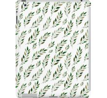 Watercolor green leaf and branch iPad Case/Skin