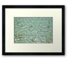 Just Blue Reflections Framed Print