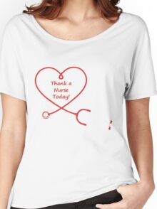 WE SHOULD THANK TO NURSE Women's Relaxed Fit T-Shirt