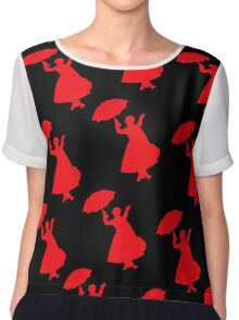 Mary Poppins Pretty in Red Pattern  Chiffon Top