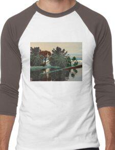 ALIEN LANDSCAPE /LAGOON IN HYPERION Sci_Fi Men's Baseball ¾ T-Shirt