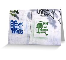 Two on the Wall - large  Greeting Card