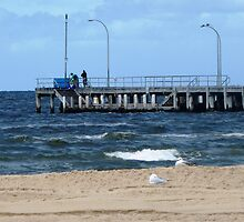 End of Jetty Altona Beach, Vic, Aust. by EdsMum
