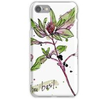 Culinary Herbs - Thai Basil iPhone Case/Skin