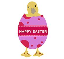 Happy Easter Chick Photographic Print