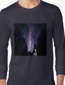 calvin and hobbes night Long Sleeve T-Shirt