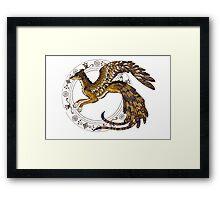 On Wings of Gold Framed Print
