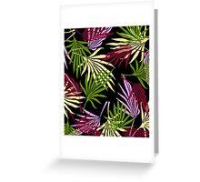 Jungle Black Greeting Card