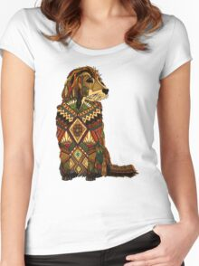 Golden Retriever ivory Women's Fitted Scoop T-Shirt