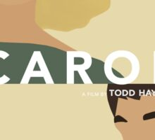 Carol Minimalist Movie Poster / Cate Blanchett / Rooney Mara Sticker