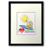 I love Surfing Framed Print