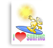 I love Surfing Canvas Print