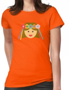 a girl with a flower crown Womens Fitted T-Shirt