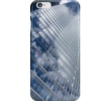 Glossy Glass Reflections - Skyscraper Geometry With Clouds - Right iPhone Case/Skin