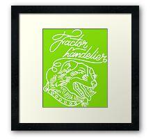 Factor Handelier Framed Print