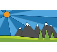 material design mountains Photographic Print