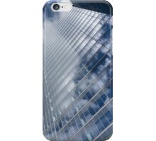 Glossy Glass Reflections - Skyscraper Geometry With Clouds - Left iPhone Case/Skin