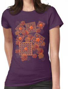 Orange Rose Womens Fitted T-Shirt