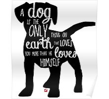 A dog's love - Lettering Poster