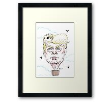 Trump Balloon Framed Print