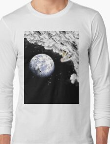 One Punch Man - Saitama on Moon (graphic-t-shirts) T-Shirt