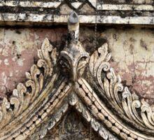 Ornate temple carvings in Bagan, Myanmar Sticker