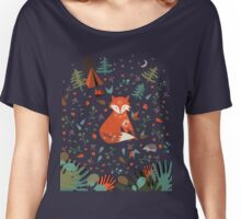 Camping With Fox Women's Relaxed Fit T-Shirt