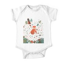 Camping With Fox One Piece - Short Sleeve