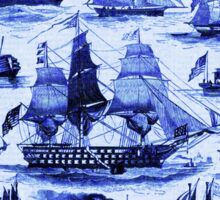 VINTAGE SAILING VESSELS AND SHIPS,Navy Blue Nautical Collection Sticker
