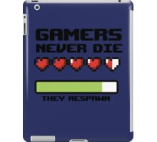 Gamer Never Die - video game t shirts iPad Case/Skin