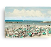Sunny winter's day on Gordon Beach, Tel Aviv, Israel Canvas Print