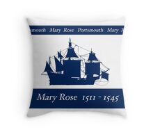 Mary Rose 1511-1545, tony fernandes Throw Pillow