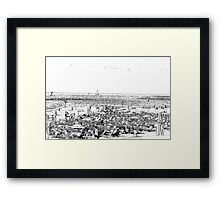 Sunny winter's day on Gordon Beach, Tel Aviv, Israel Framed Print
