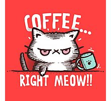 Coffee Right Meow!!! |Cute Cat Photographic Print