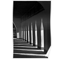 Shadowed corridor in Burmese temple – Bagan, Myanmar Poster