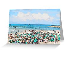 Sunny winter's day on Gordon Beach, Tel Aviv, Israel Greeting Card