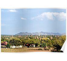 A plain of temples– Bagan, Myanmar Poster