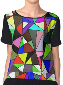 Color Collage Chiffon Top