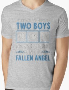 My Heart belong to two boys ( Sam and Dean ) Mens V-Neck T-Shirt
